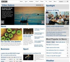 BBC.com Front Page - September, 24th 2012